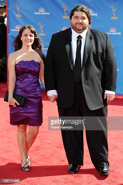 Actor Jorge Garcia arrive at the 62nd Annual Primetime Emmy Awards held at the Nokia Theatre LA Live on August 29 2010 in Los Angeles California