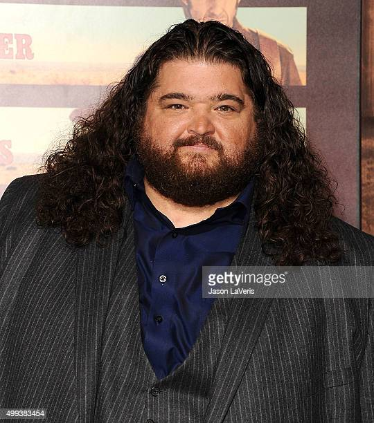 Actor Jorge Garcia attends the premiere of 'The Ridiculous 6' at AMC Universal City Walk on November 30 2015 in Universal City California