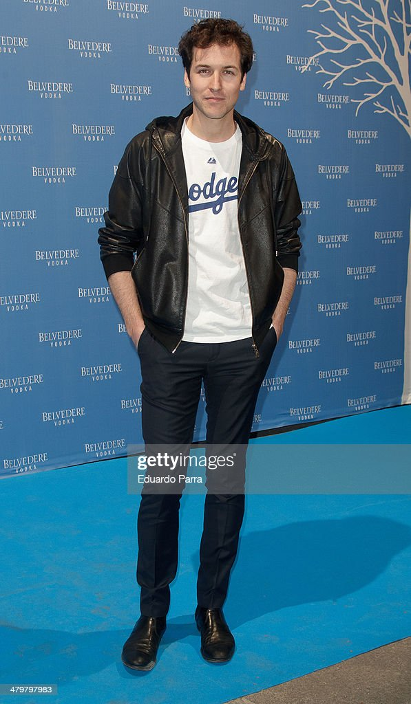 Actor Jorge Suquet attends Belvedere Vodka party photocall at Principe Pio train station on March 20, 2014 in Madrid, Spain.