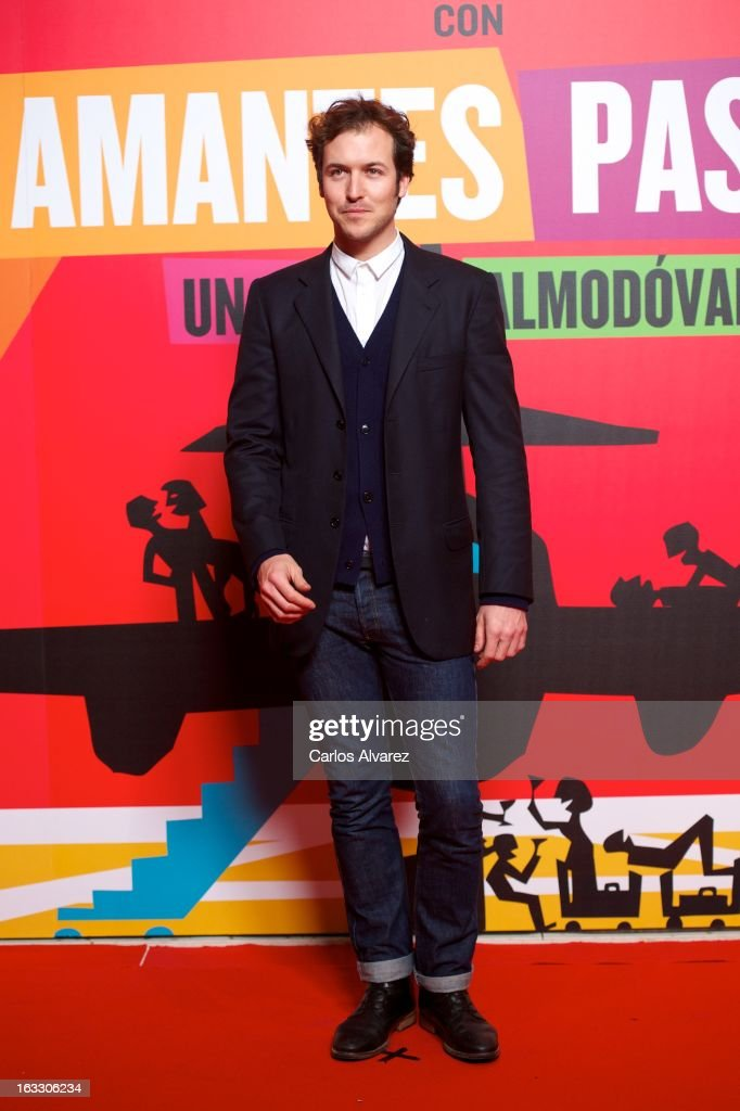 Actor Jorge Suquet attends 'Los Amantes Pasajeros' premiere party at Casino de Madrid on March 7, 2013 in Madrid, Spain.