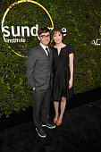 Actor Jorma Taccone and director Marielle Heller attend the 2015 Sundance Institute Celebration Benefit at 3LABS on June 2 2015 in Culver City...