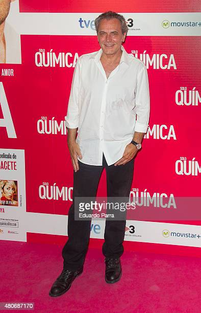 Actor Jose Coronado attends 'Solo Quimica' premiere at Palafox cinema on July 14 2015 in Madrid Spain
