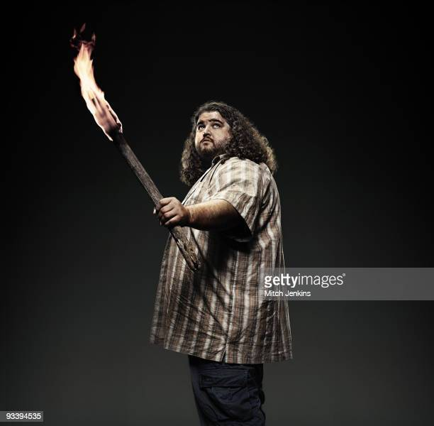 Actor Jose Garcia poses for a portrait shoot as Hurley in the US tv series 'Lost' on September 3 2008