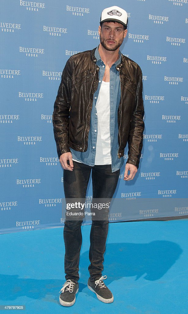 Actor Jose Lamuno attends Belvedere Vodka party photocall at Principe Pio train station on March 20, 2014 in Madrid, Spain.