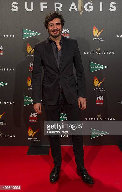 Actor Jose Manuel Seda attends 'Sufragistas' premiere at Callao cinema on December 2 2015 in Madrid Spain