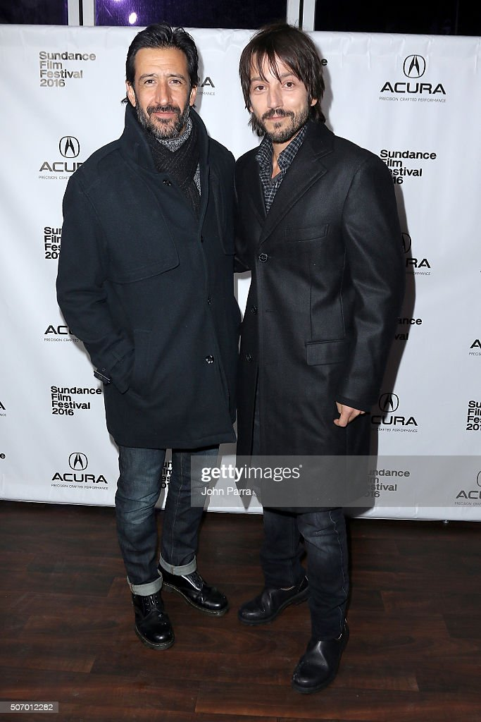 Actor Jose Maria Yazpik and director Diego Luna attend the 'Mr Pig' Premiere Party At The Acura Studio At Sundance Film Festival 2016 2016 Park City...