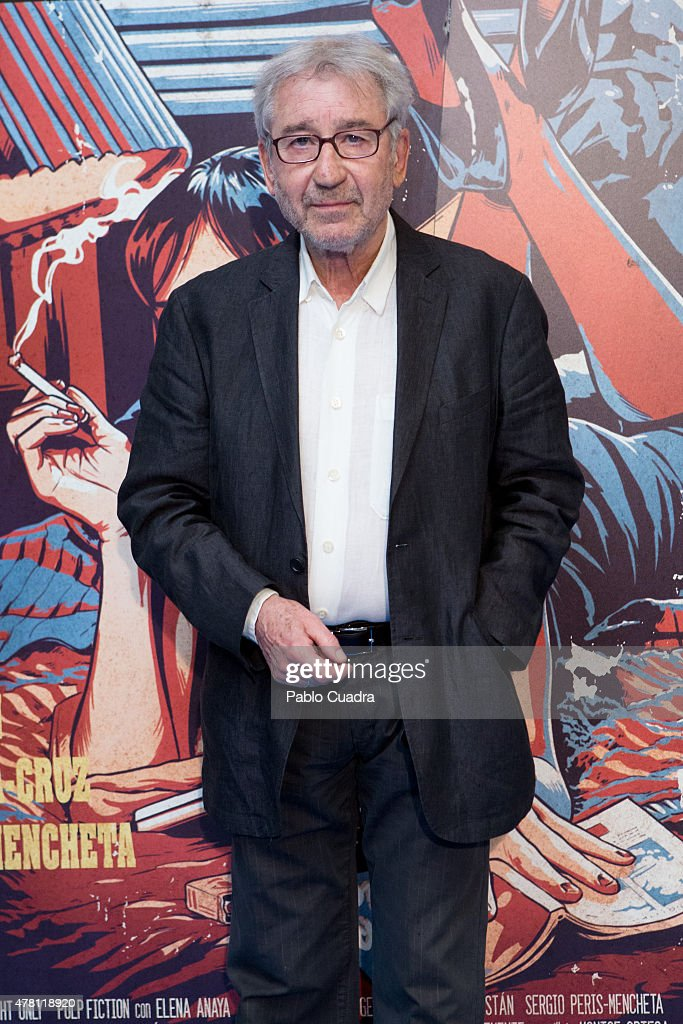 Actor Jose Sacristan attends the 'One Night Only : Pulp Fiction' premiere at Capitol Cinema on June 22, 2015 in Madrid, Spain.