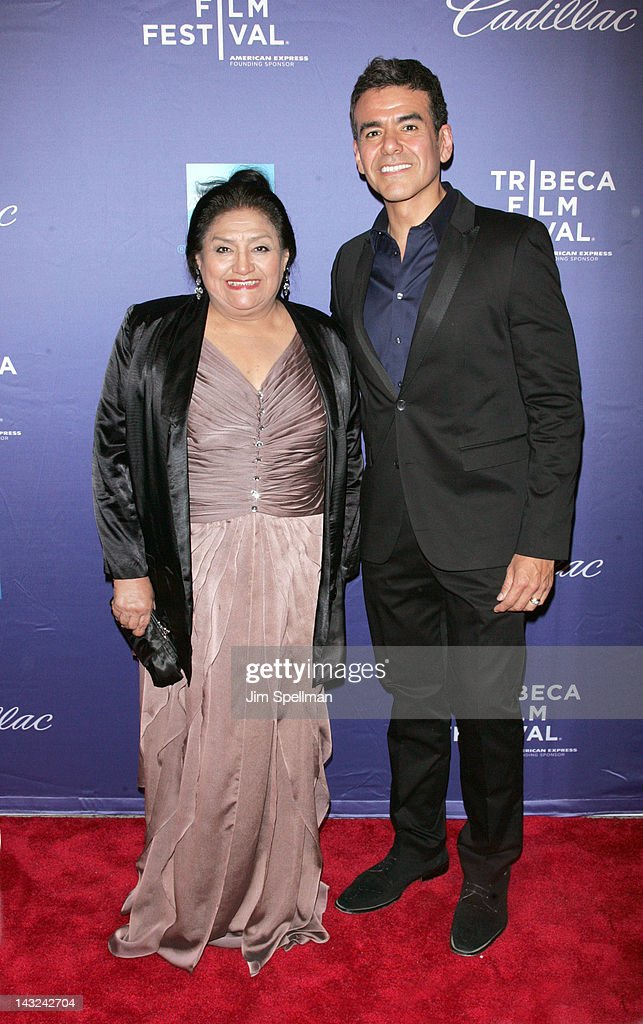 Actor Jose Yenque (R) and his mother attend the premiere of 'Whole Lotta Sole' during the 2012 Tribeca Film Festival at BMCC Tribeca PAC on April 21, 2012 in New York City.