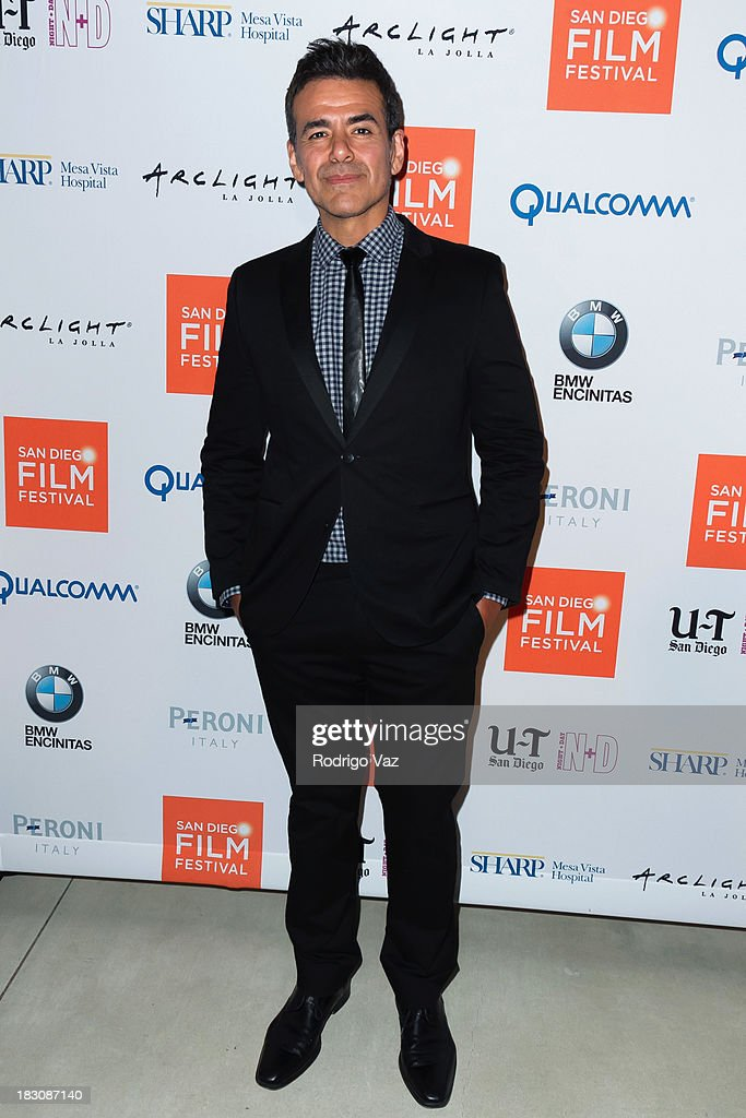 Actor Jose Yenque arrives at San Diego Film Festival's tribute to honor <a gi-track='captionPersonalityLinkClicked' href=/galleries/search?phrase=Judd+Apatow&family=editorial&specificpeople=854225 ng-click='$event.stopPropagation()'>Judd Apatow</a> at Museum of Contemporary Art on October 3, 2013 in La Jolla, California.