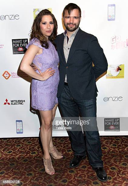 Actor Joseph Deese and actress/Liv Out Loud creator Ashley Gianni pose for portrait at Premiere Party For 'Liv Out Loud' at Akbar on September 14...