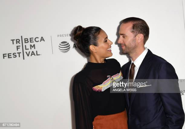 Actor Joseph Fiennes and actress Maria Dolores Dieguez attend the Premiere of 'A Handmaid's Tale' during the 2017 Tribeca Film Festival at SVA...