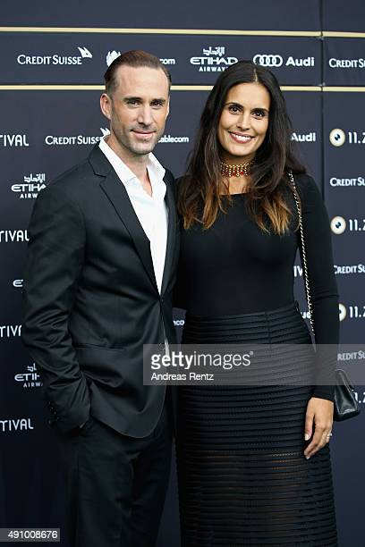 Actor Joseph Fiennes and wife Maria Dolores Dieguez attend the 'Strangerland' Premiere during the Zurich Film Festival on October 2 2015 in Zurich...