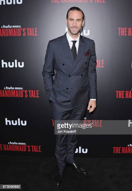 Actor Joseph Fiennes arrives at the premiere of Hulu's 'The Handmaid's Tale' at ArcLight Cinemas Cinerama Dome on April 25 2017 in Hollywood...
