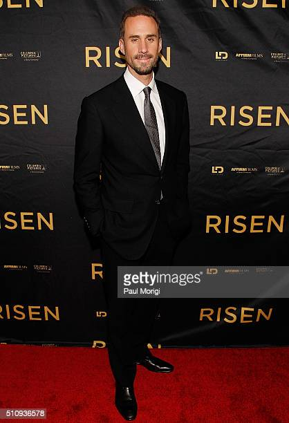 Actor Joseph Fiennes arrives at the 'Risen' New York screening at The Sheen Center on February 17 2016 in New York City