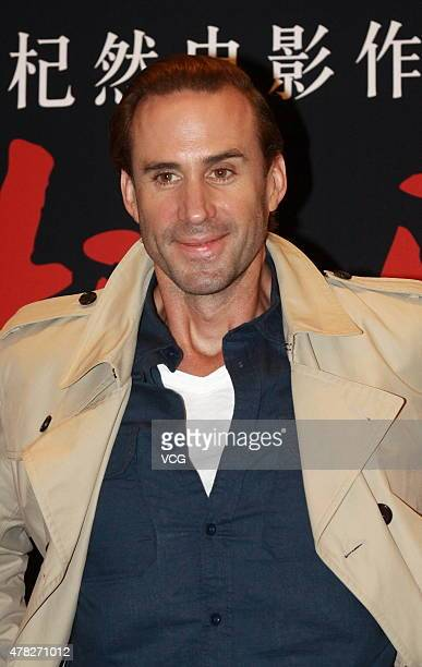 Actor Joseph Fiennes attends 'The Last Race' press conference on June 24 2015 in Tianjin China