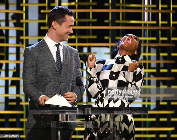 Actor Joseph GordonLevitt and actor/recording artist Janelle Monae speak onstage during the 2017 Film Independent Spirit Awards at the Santa Monica...