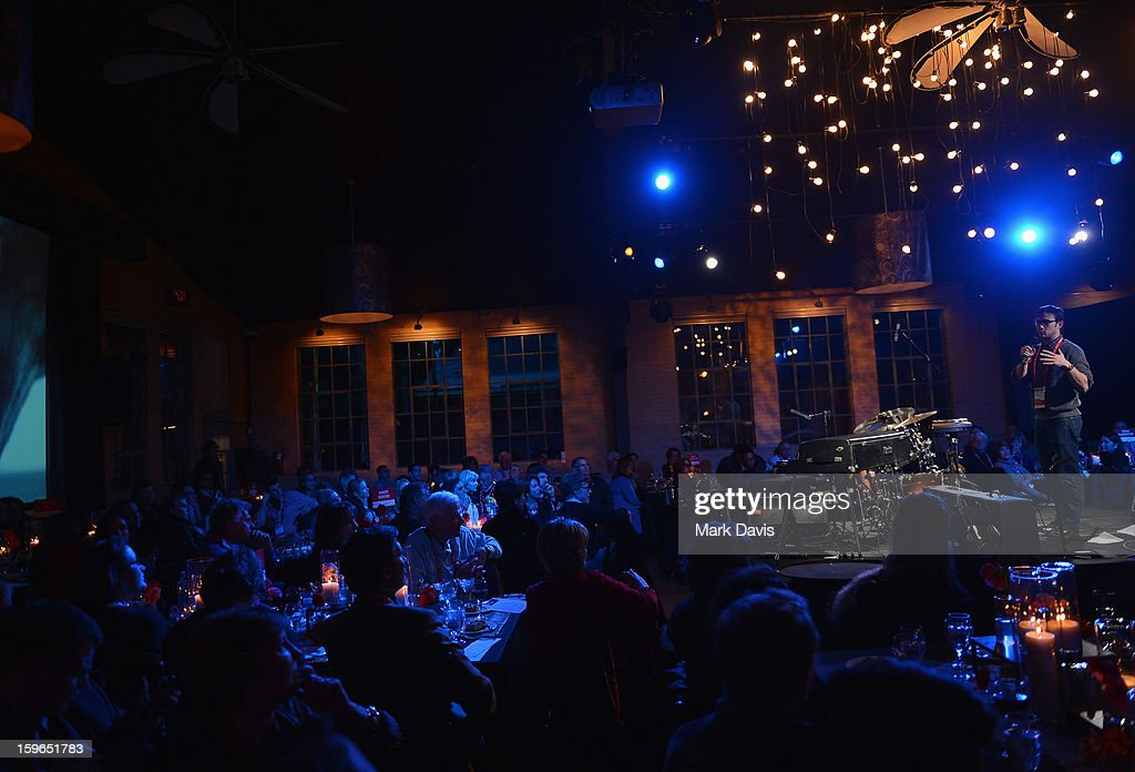 Actor Joseph Gordon-Levitt attends An Artist At The Table, a benefit for the Sundance Institute during the 2013 Sundance Film Festival at The Shop on January 17, 2013 in Park City, Utah.