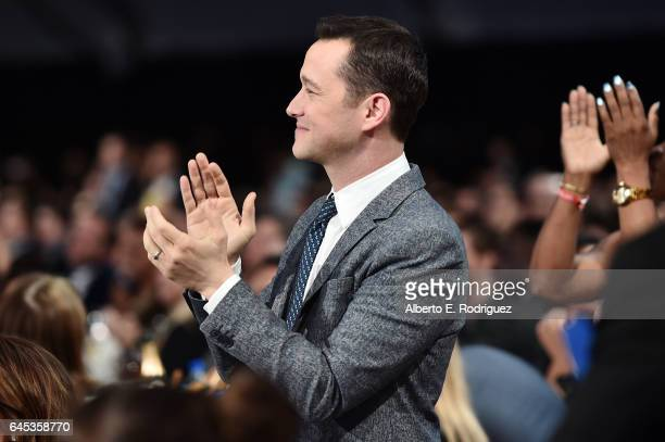 Actor Joseph GordonLevitt attends the 2017 Film Independent Spirit Awards at the Santa Monica Pier on February 25 2017 in Santa Monica California