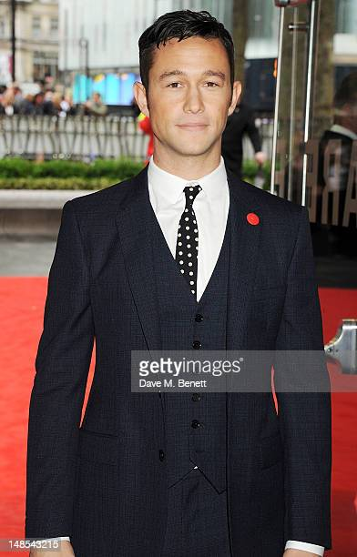 Actor Joseph GordonLevitt attends the European Premiere of 'The Dark Knight Rises' at Odeon Leicester Square on July 18 2012 in London England
