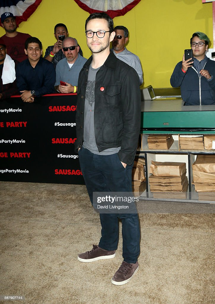 Actor Joseph GordonLevitt attends the premiere of Sony's 'Sausage Party' at Regency Village Theatre on August 9 2016 in Westwood California