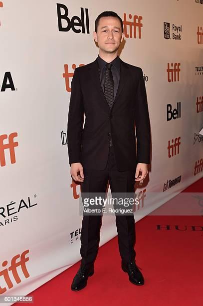 Actor Joseph GordonLevitt attends the 'Snowden' premiere during the 2016 Toronto International Film Festival at Roy Thomson Hall on September 9 2016...
