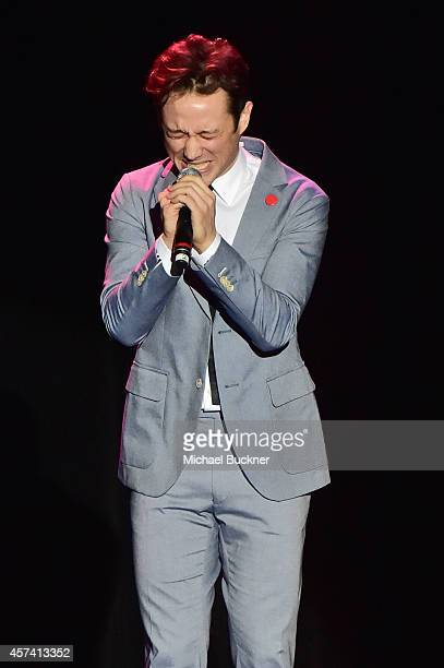 Actor Joseph GordonLevitt on stage at the 3rd Annual Hilarity for Charity Variety Show to benefit the Alzheimer's Association presented by Genworth...