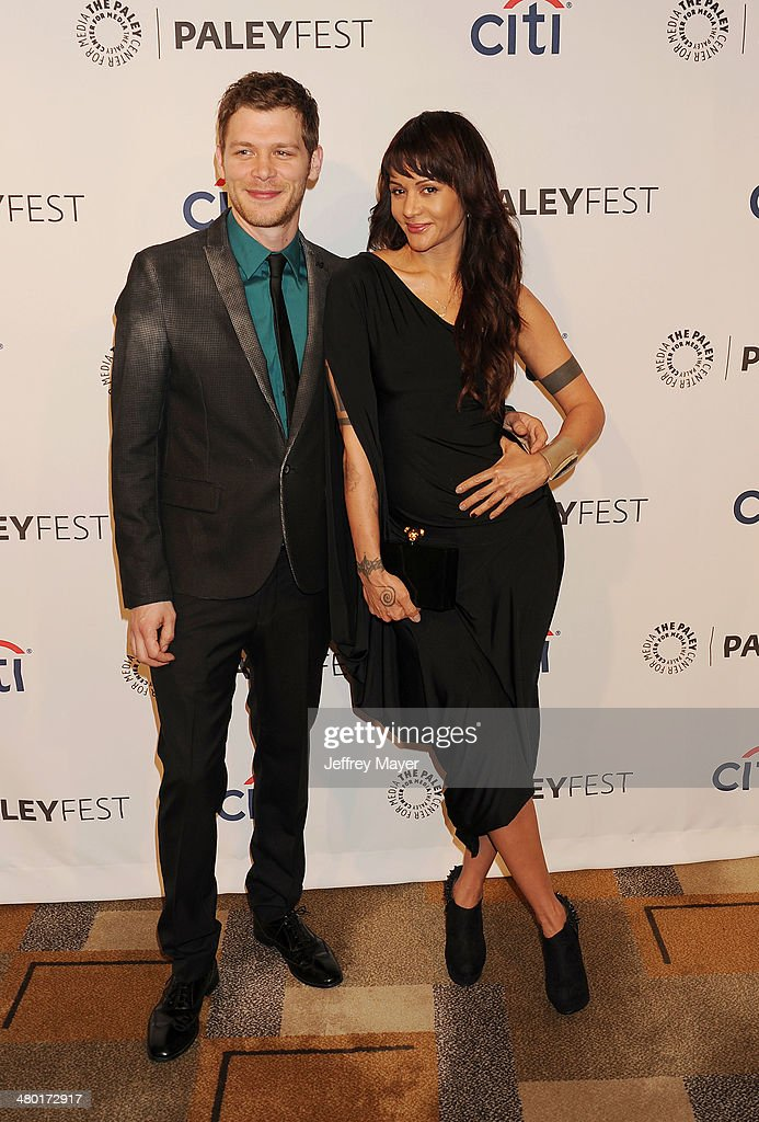 Actor Joseph Morgan (L) and actress Persia White attend the 2014 PaleyFest - 'The Vampire Diaries' & 'The Originals' held at Dolby Theatre on March 21, 2014 in Hollywood, California.