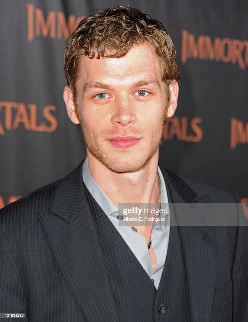 Actor Joseph Morgan arrives at Relativity Media's 'Immortals' premiere presented in RealD 3 at Nokia Theatre L.A. Live at Nokia Theatre L.A. Live on November 7, 2011 in Los Angeles, California.