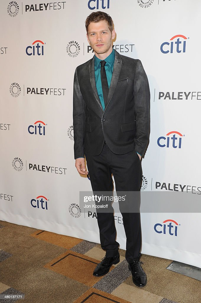 Actor Joseph Morgan arrives at the 2014 PaleyFest - 'The Vampire Diaries' & 'The Originals' on March 22, 2014 in Hollywood, California.