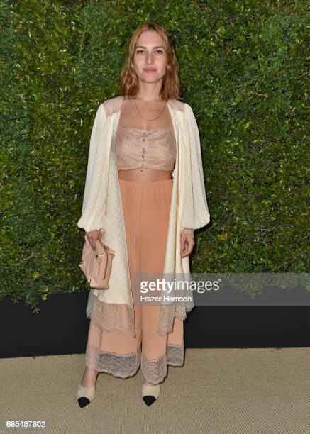 Actor Josephine de la Baume attends the celebration of Chanel's Gabrielle Bag hosted by Caroline De Maigret and Pharrell Williams at Giorgio Baldi on...