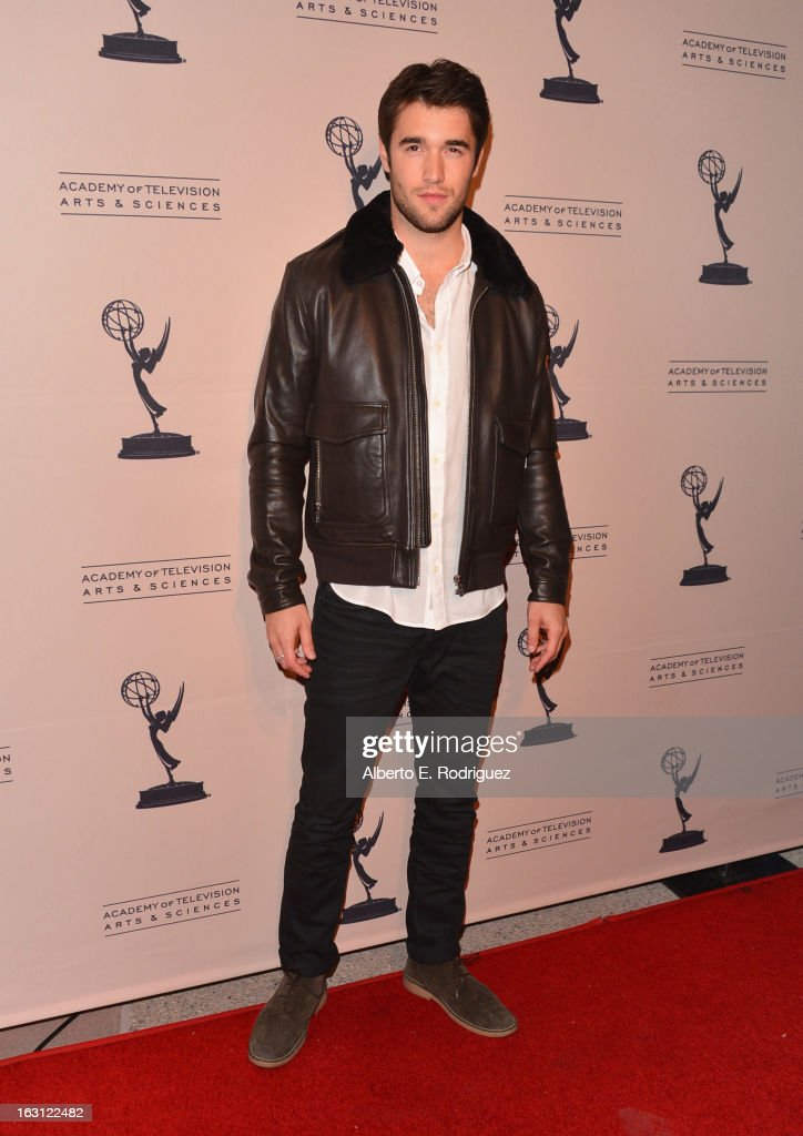 Actor Josh Bowman arrives to the Academy of Television Arts and Sciences' An Evening with 'Revenge' at Leonard H. Goldenson Theatre on March 4, 2013 in North Hollywood, California.