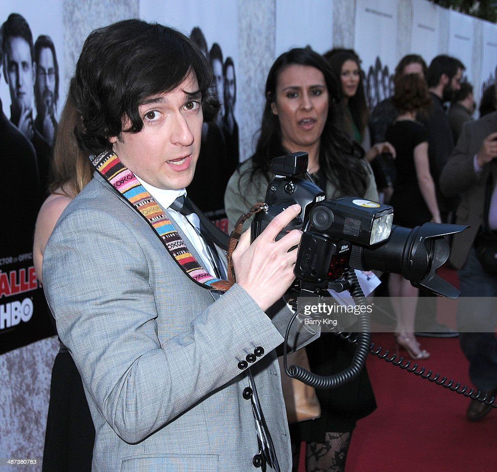 Actor Josh Brener arrives at the premiere of 'Silicon Valley' on April 3, 2014 at Paramount Studios in Hollywood, California.