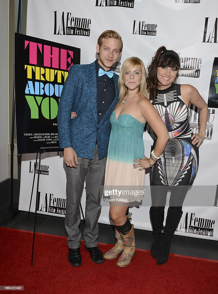 Actor Josh Brodis, actress Aimee-Lynn Chadwick and director Andrea Fellers attend 'The Truth About You' - Los Angeles Premiere at Regal 14 at LA Live Downtown on October 19, 2013 in Los Angeles, California.