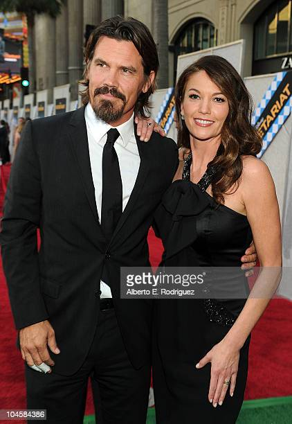 Actor Josh Brolin and actress Diane Lane arrive at the premiere of Walt Disney Pictures' 'Secretariat' at the El Capitan Theatre on September 30 2010...