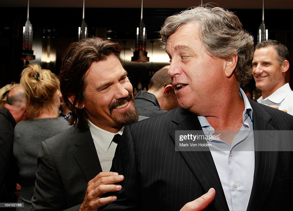 Actor Josh Brolin and copresident of Sony Pictures Classic Tom Bernard attend the Cinema Society and Blackberry Torch screening of 'You Will Meet a...
