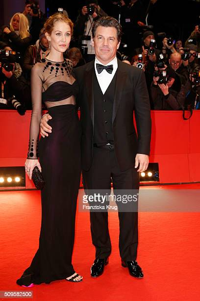 Actor Josh Brolin and Kathryn Boyd attend the 'Hail Caesar' premiere during the 66th Berlinale International Film Festival Berlin at Berlinale Palace...
