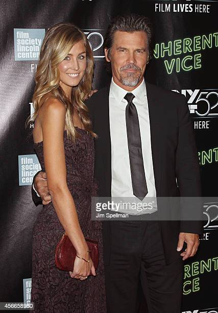Actor Josh Brolin and Kathryn Boyd attend the 'Inherent Vice' Centerpiece Gala Presentation World Premiere during the 52nd New York Film Festival at...