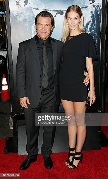 Actor Josh Brolin and Kathryn Boyd attend the Premiere of Universal Pictures' 'Everest' at the TCL Chinese 6 Theatre on September 9 2015 in Hollywood...