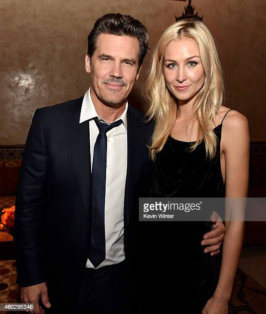 Actor Josh Brolin and Kathryn Boyd pose at the after party for the premiere of Warner Bros Pictures' 'Inherent Vice' at the Roosevelt Hotel on...