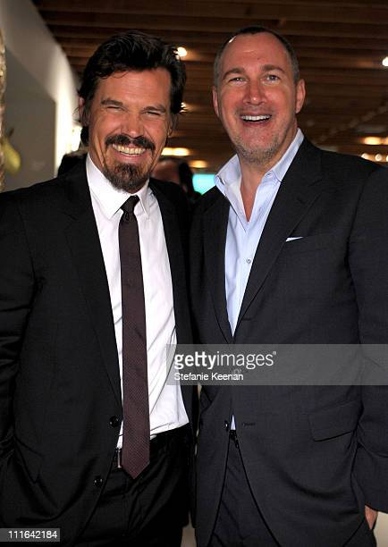 Actor Josh Brolin and Vanity Fair publisher Edward Menicheschi attend the Dior and Vanity Fair launch of BRANDAID Foundation held at Environment on...