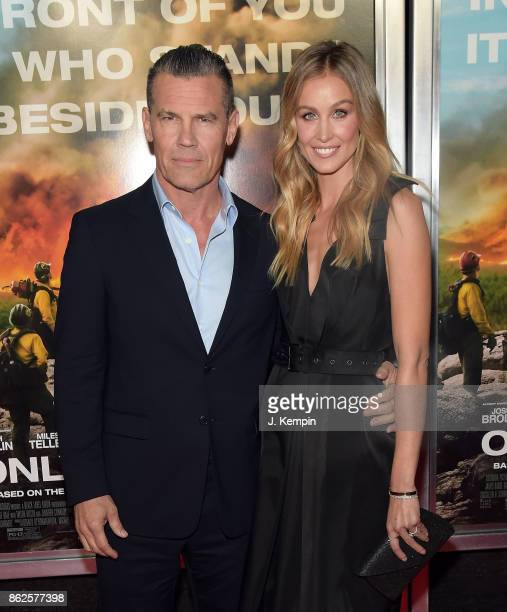 Actor Josh Brolin and wife Kathryn Boyd attend the 'Only The Brave' New York Screening at iPic Theater on October 17 2017 in New York City