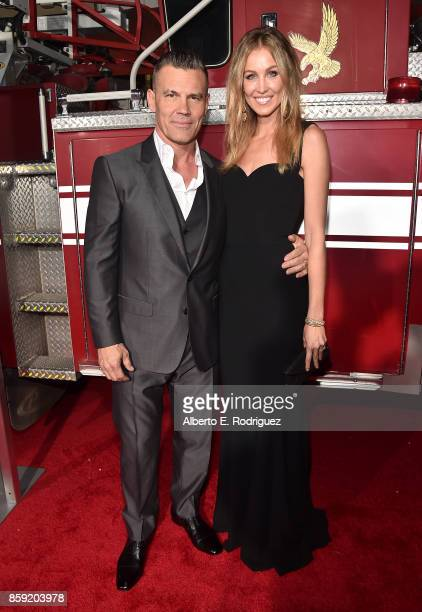 Actor Josh Brolin and wife Kathryn Boyd attend the premiere of Columbia Pictures' 'Only The Brave' at the Regency Village Theatre on October 8 2017...