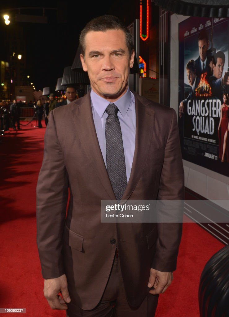 Actor Josh Brolin arrives at the 'Gangster Squad' premiere at Grauman's Chinese Theatre on January 7, 2013 in Hollywood, California.