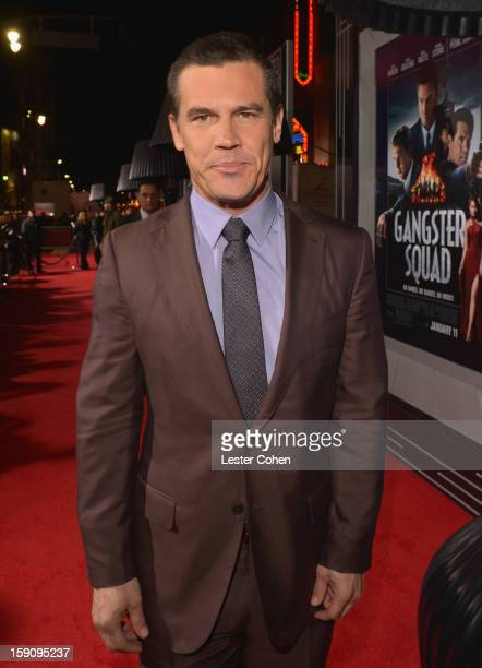 Actor Josh Brolin arrives at the 'Gangster Squad' premiere at Grauman's Chinese Theatre on January 7 2013 in Hollywood California