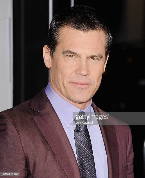 Actor Josh Brolin arrives at the Los Angeles Premiere 'Gangster Squad' at Grauman's Chinese Theatre on January 7 2013 in Hollywood California
