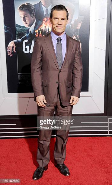 Actor Josh Brolin arrives at the Los Angeles premiere of 'Gangster Squad' at Grauman's Chinese Theatre on January 7 2013 in Hollywood California