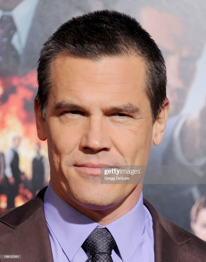 Actor Josh Brolin arrives at the Los Angeles premiere of 'Gangster Squad' at Grauman's Chinese Theatre on January 7, 2013 in Hollywood, California.