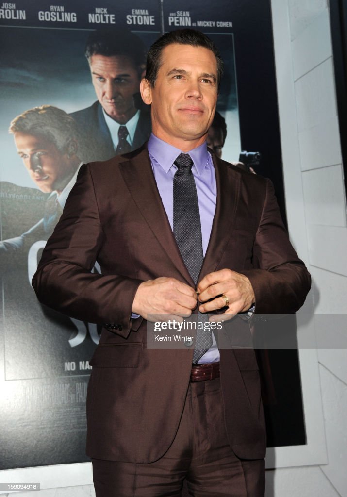Actor Josh Brolin arrives at Warner Bros. Pictures' 'Gangster Squad' premiere at Grauman's Chinese Theatre on January 7, 2013 in Hollywood, California.