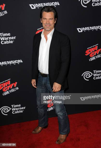 Actor Josh Brolin arrives for the Premiere Of Dimension Films' 'Sin City A Dame To Kill For' held at the TCL Chinese Theatre on August 19 2014 in...