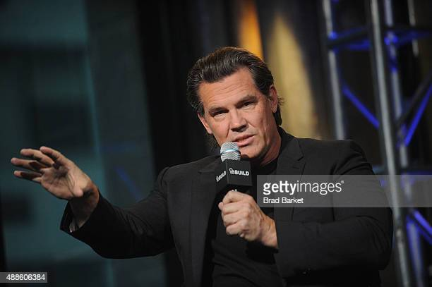 Actor Josh Brolin attend the AOL BUILD Speaker Series 'Sicario' at AOL Studios In New York on September 16 2015 in New York City